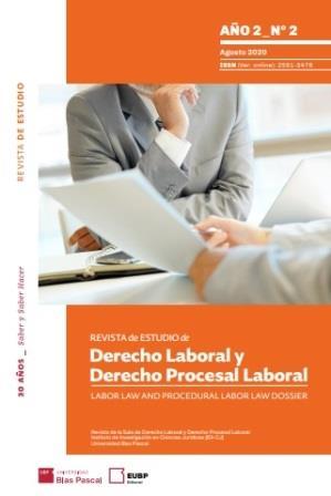 Revista de Estudio de Derecho Laboral y Derecho Procesal Laboral